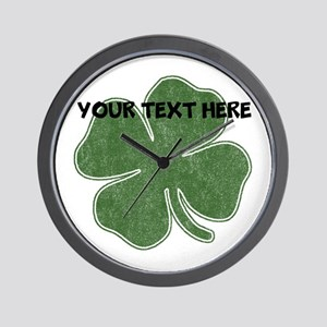 Personalizable Vintage Shamrock Wall Clock