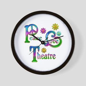 Peace Love Theatre Wall Clock