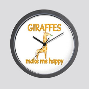 Giraffe Happy Wall Clock