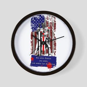 American Knights Templar Wall Clock