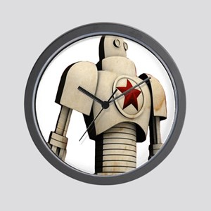 Robot soviet space propaganda Wall Clock