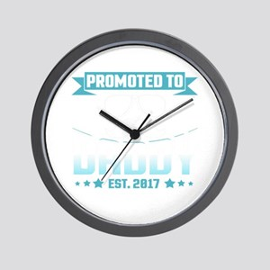 Promoted To Daddy Est. 2017 Wall Clock