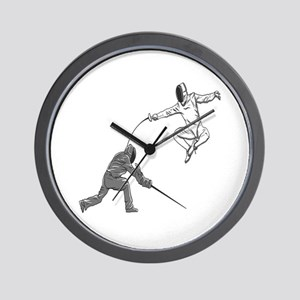 Fencing Match Wall Clock