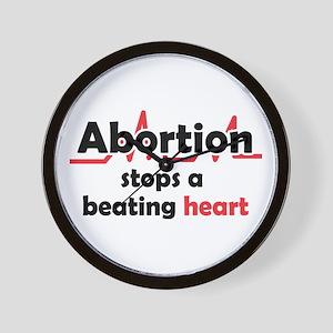 Abortion stops heart Wall Clock