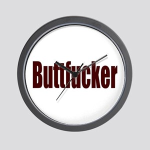 Buttfucker Wall Clock