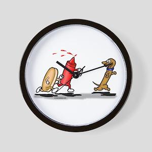 Run Wiener Dog! Wall Clock