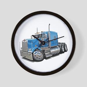 Kenworth W900 Lt Blue Truck Wall Clock