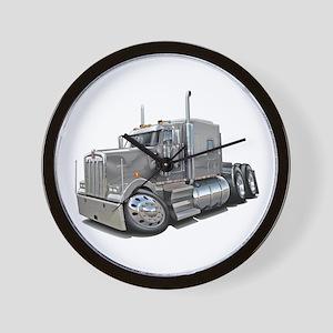 Kenworth W900 Silver Truck Wall Clock