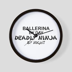 Ballerinia Deadly Ninja Wall Clock