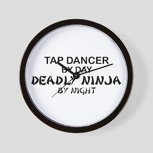 Tap Dancer Deadly Ninja Wall Clock