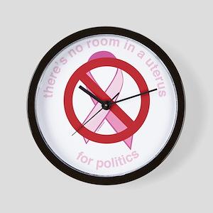 Pro_Choice_RoundPinkBLK Wall Clock