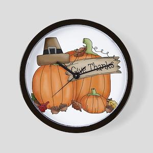 Thanksgiving Wall Clock