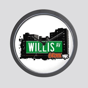 Willis Av, Bronx, NYC Wall Clock