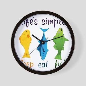 Lifes Simple Wall Clock