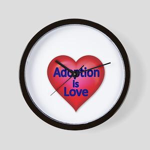 Adoption is love Wall Clock