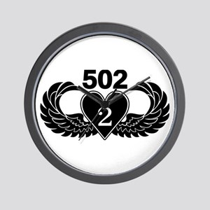 2-502 Black Heart Wall Clock