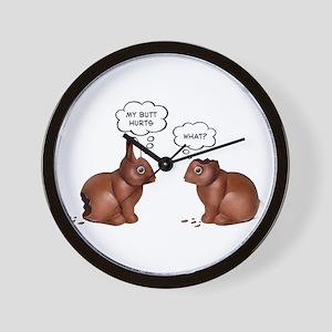 Chocolate Easter Bunnies Wall Clock