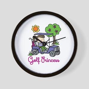Golf Princess Wall Clock