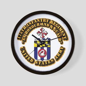 COA - 175th Infantry Regiment Wall Clock