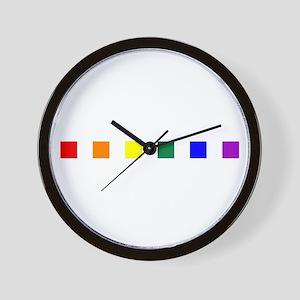 Rainbow Pride Squares Wall Clock
