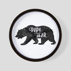 Papa Bear - Family Shirts Wall Clock