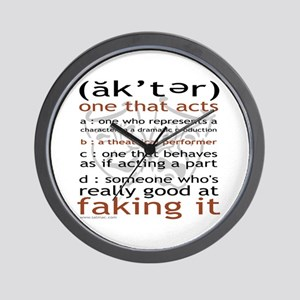 Actor (ak'ter) Meaning Wall Clock