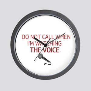 The Voice Alert Wall Clock