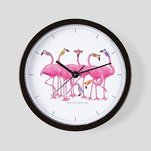 Cool Flamingoes Wall Clock