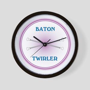 Neon Baton Twirler Wall Clock