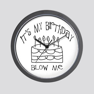birthday blow me Wall Clock