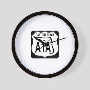 A1A Daytona Beach Wall Clock