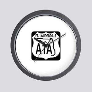 A1A Fort Lauderdale Wall Clock
