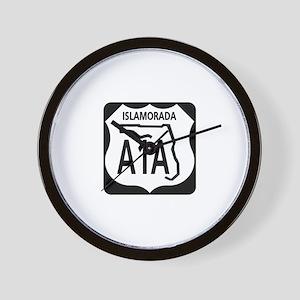 A1A Islamorada Wall Clock