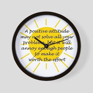 Positive Attitude Wall Clock