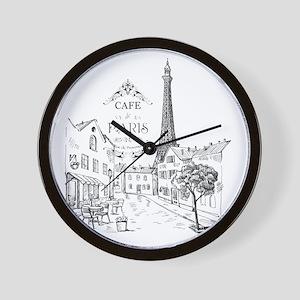 Cafe Paris Wall Clock