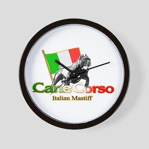 Cane Corso run Wall Clock