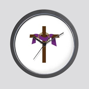 Season Of Lent Cross Wall Clock