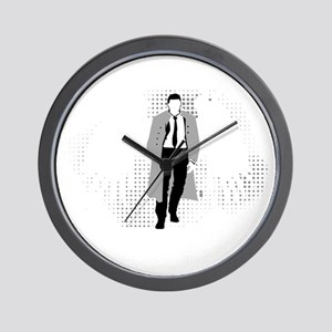 Castiel blk Wall Clock