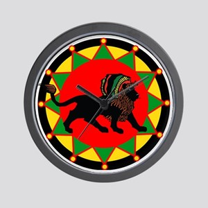 Jah King Rasta Lion Wall Clock