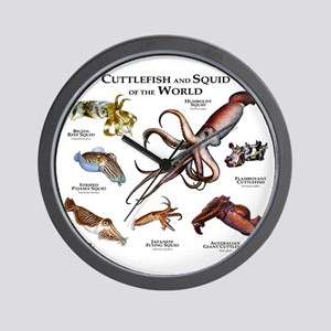 Cuttlefish & Squid of the World Wall Clock