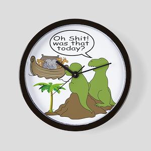 Noah and T-Rex, Funny Wall Clock