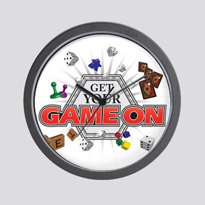 Get Your Game On - Black Wall Clock