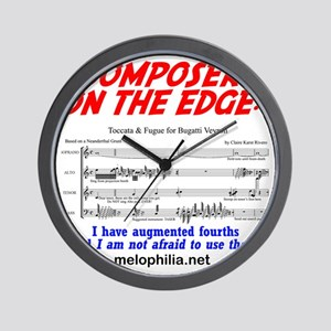 composer on the edge Wall Clock