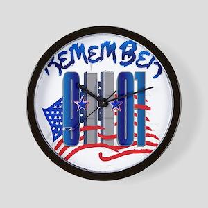 Remember 9/11 - 9-11-01 Twin Towers Mem Wall Clock