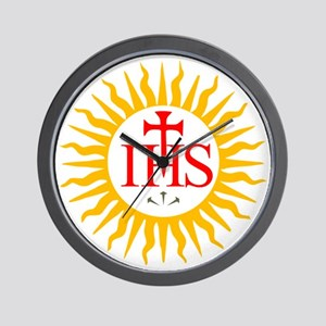 IHS JESUIT SEAL Wall Clock