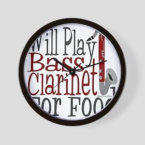 Will Play Bass Clarinet Wall Clock