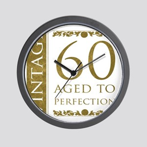 Fancy Vintage 60th Birthday Wall Clock