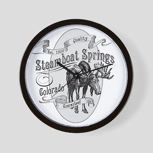 Steamboat Springs Vintage Moose Wall Clock