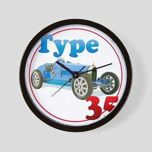 Bugatti35-C8trans Wall Clock