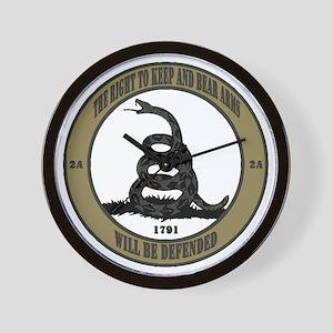 Defend the Second Amendment Wall Clock